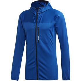 adidas TERREX TraceRocker Hooded Fleece Jacket Herren collegiate royal